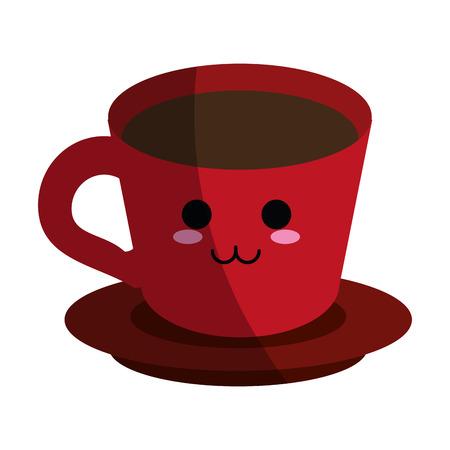 kawaii coffee cup icon image vector illustration design