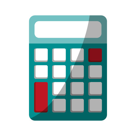 calculator with blank buttons and screen icon image vector illustration design