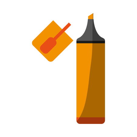 highlighter marker school supply icon image vector illustration design Banco de Imagens - 81272704