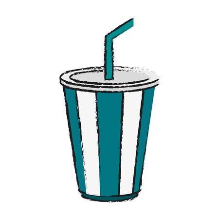 striped soda cup icon image vector illustration design