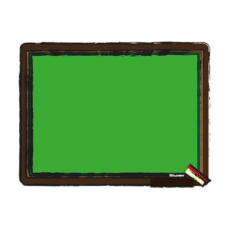 ballpen: chalk board with school supply icon image vector illustration design