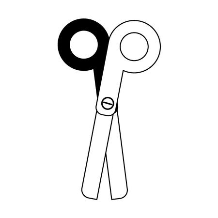 ballpen: scissors school supply icon image vector illustration design black and white
