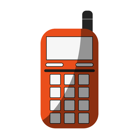 blank screen cellphone with buttons and antennaicon image vector illustration design