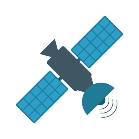 Satelliet transmissie telecommunicatie pictogram afbeelding vector illustratie ontwerp Stockfoto - 81273249