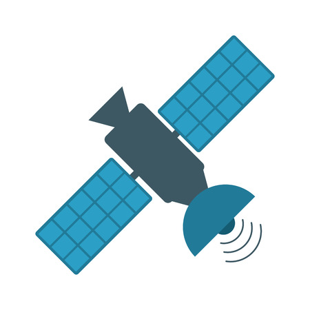 satellite transmission telecommunication icon image vector illustration design