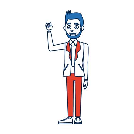 politician man avatar campaign election democracy vector illustration Illustration
