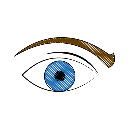 viewing: eye vision surveillance system security concept vector illustration