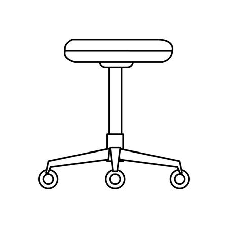 Silla backless muebles de oficina rueda ilustración vectorial Foto de archivo - 81377910