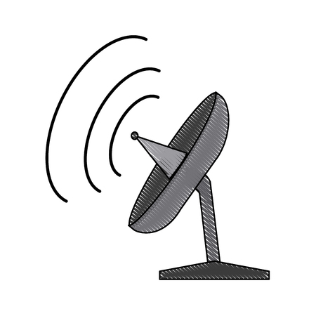tv tower: satellite dish antenna for broadcast communication vector illustration Illustration