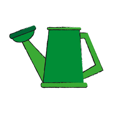 watering can gardening tool icon image vector illustration design Illustration