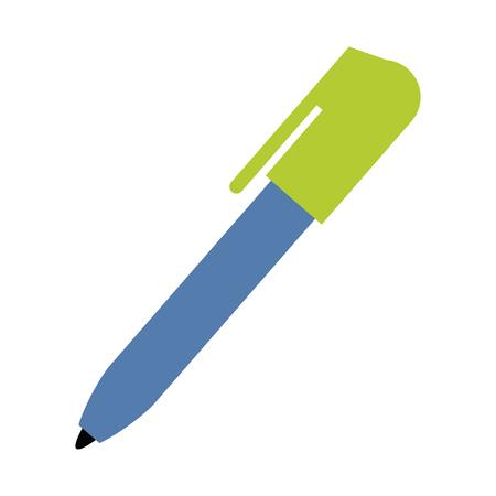 ball point pen icon image vector illustration design