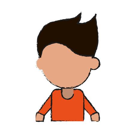 faceless man avatar icon image vector illustration design