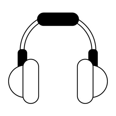 isolated headphones  icon image vector illustration design  black line