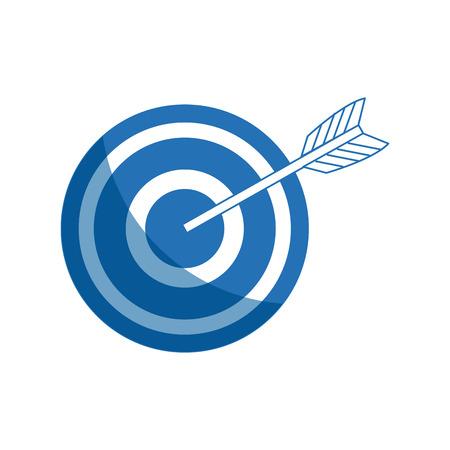 arrow hitting a target business solution concept vector illustration Illustration