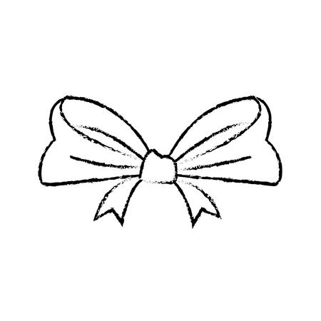 smooth ribbon beam bow decoration image vector illustration Ilustrace