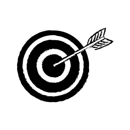 advantages: arrow hitting a target business solution concept vector illustration Illustration