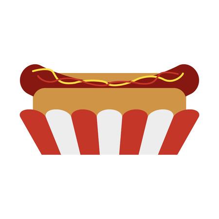 junkfood: hot dog fast food icon vector illustration design graphic Illustration