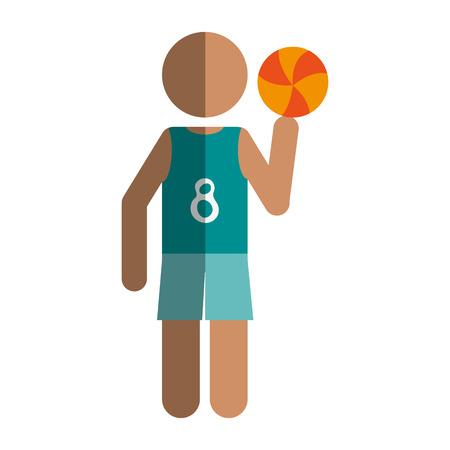 person like sport icon vector illustration design shadow