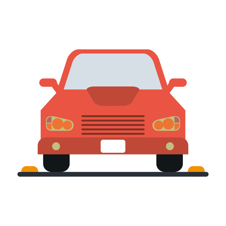 parked car frontview  icon image vector illustration design