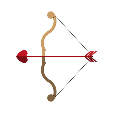 bow and arrow ove valentines day related icon icon image vector illustration design