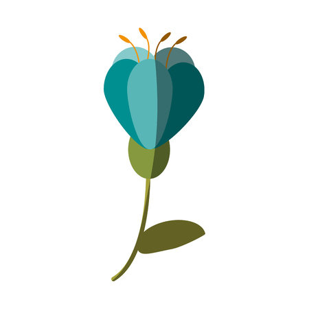 single blue flower icon image vector illustration design Illustration