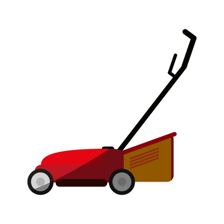 lawn mower gardening tool icon image vector illustration design