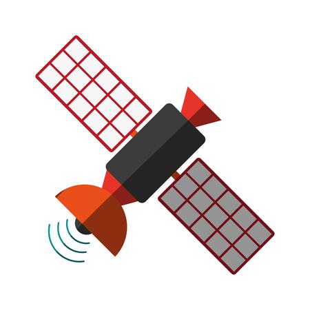 tv tower: satellite transmission telecommunication icon image vector illustration design