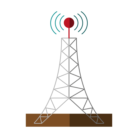 tv tower: antenna telecommunication icon image vector illustration design Illustration