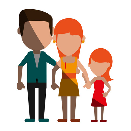 avatars of traditional family members icon image vector illustration design
