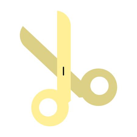 barber: open scissors icon image vector illustration design