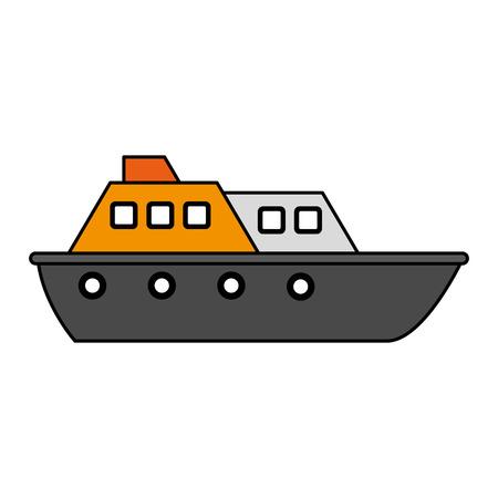 navy pier: Colorful ship over white background vector illustration Illustration