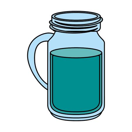 h2o: Water jar over white background vector illustration