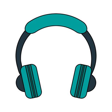 Blue headphones over white background vector illustration Illustration