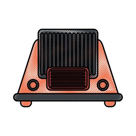 fm: Colorful radio over white background vector illustration