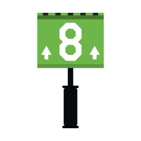 sign american football icon image vector illustration design Vettoriali