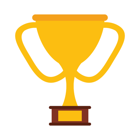 trophy cup icon image vector illustration design