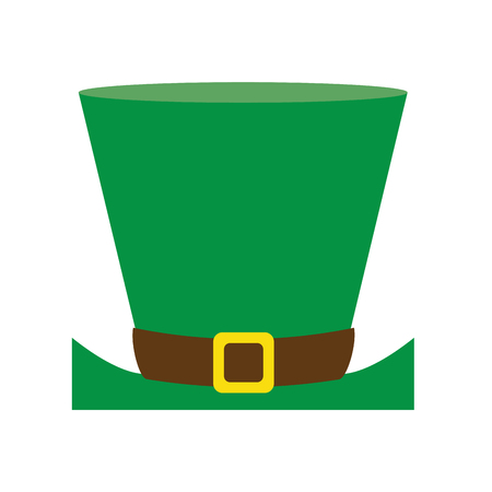 clovers: Leprechaun hat st patricks day related icon image vector illustration design
