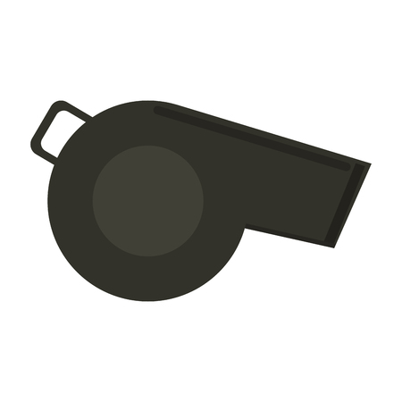 whistle sideview icon image vector illustration design