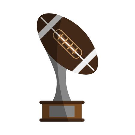 lacing: ball shape trophy american football icon image vector illustration design Illustration