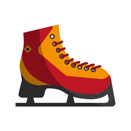 Ice skates icon image vector illustration design Illustration