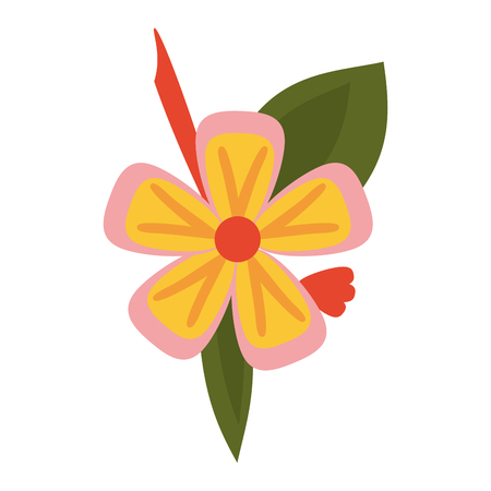 small delicate flowers icon image vector illustration draw