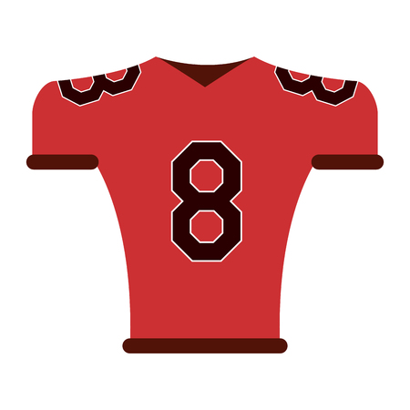 lacing: team shirt 8 american football icon image vector illustration design