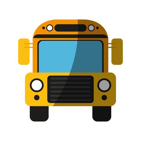 Bus school transport cartoon shadow  vector illustration design graphic Illustration