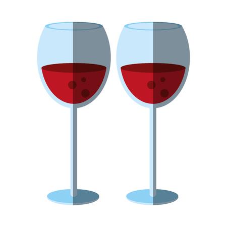 Delicious wine celebration shadow  vector illustration design graphic Illustration