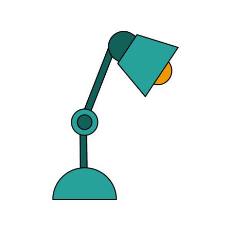blue metallic background: desk lamp bulb light electric equipmentvector illustration