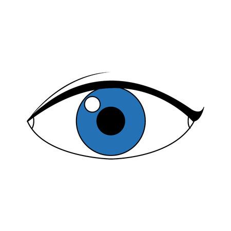 eye people cartoon watch optic icon vector illustration Illustration