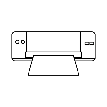 printer device technology office paper supplies vector illustration