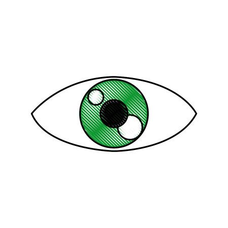 目の人漫画時計光アイコン ベクトル図  イラスト・ベクター素材