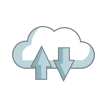 download and upload to cloud icon symbol vector illustration Illustration