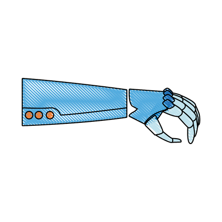 robotic arm mechanical modern technology vector illustration Иллюстрация
